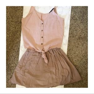 Brandy Melville tank and skirt outfit